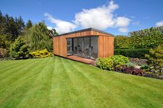 eSpace Garden Room - Melwood Timber Cabins & Sheds Backyard Cabin, Backyard Studio, Garden Studio, Landscape Design, Garden Design, House Design, Espace Design, Cedar Cladding, Timber Cabin