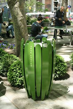 In December we asked you to help us choose a new design and color for Bryant Park's litter receptacles. We received over 2,700 votes in our ...