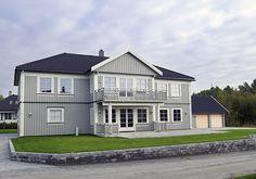 Eidsvoll - enebolig fra Block Watne - malt i grått Home Fashion, Mansions, House Styles, Home Decor, Decoration Home, Manor Houses, Room Decor, Villas, Mansion