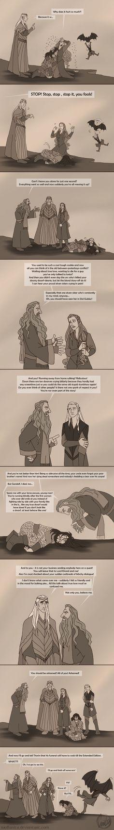 The Hobbit: Gandalf to the Rescue! by wolfanita.deviantart.com on @DeviantArt