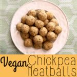 These vegan chickpea meatballs are a delicious vegan alternative to regular meatballs. Full of flavor and a great addition to your vegan Italian recipes!