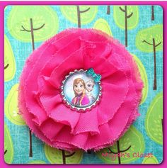 Frozen Inspired Hair Clip Anna Elsa Hair Clip Ice by MiyahsCloset, $8.99