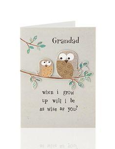 Wise Owls Grandad Birthday Card Home