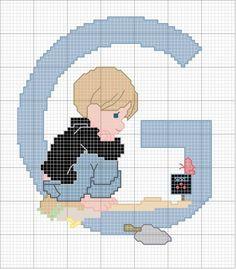 Schema punto croce G-ragazzo