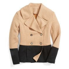 Peacoat perfection! Modernize a classic style with on-trend, neutral color-blocking. #trendalert