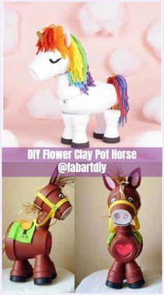 Flower Pot Art, Clay Flower Pots, Flower Pot Crafts, Clay Pot Projects, Clay Pot Crafts, Diy Clay, Shell Crafts, Diy Crafts, Flower Pot People
