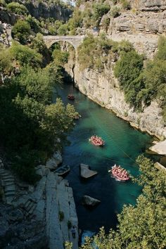 Köprülü Kanyon Köprülü Canyon is a canyon and a National Park in the Province of Antalya, Turkey. Beautiful Places In The World, Places Around The World, Wonderful Places, Great Places, Places To See, Around The Worlds, Istanbul, Turkey Travel, Famous Places