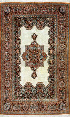 Buy Qum Persian Rug x Authentic Qum Handmade Rug Persian Rug, Decoration, Oriental Rug, Carpets, Bohemian Rug, Rugs, Antiques, Floral, Handmade