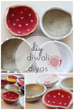 Check out this tutorial for making DIY Diwali candle holders. So fun to make! Diwali Diya, Diwali Craft, Diwali Gifts, Diwali 2014, Diwali Candle Holders, Diwali Candles, Diya Decoration Ideas, Diwali Decorations At Home, Home Decoration