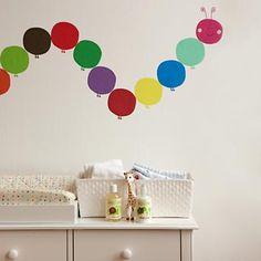 Kids' Wall Decals: Caterpillar Wall Decal in All Wall Art