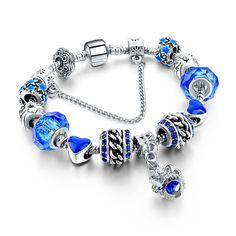Regina Bleu Charm Bracelet