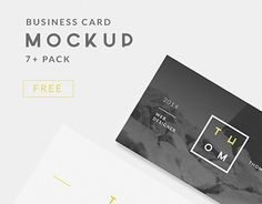 Free Mockup Business Card for personal and commercial use