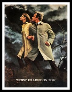 1969 London Fog Trench Coat Ad  Wall Art   by 3rdStVintagePaper