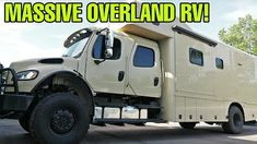 motorhome off road - YouTube Off Road Rv, Off Road Camper, Overland Trailer, Cargo Trailers, Camping Trailers, Camper Jacks, Trailer Coupler, Rv Show, Expedition Vehicle