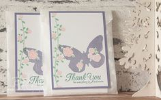 Floral Wings Thank You Cards Gift made with Stampin' Up! UK Supplies - get the details here
