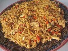 Thai chicken pasta - cheesecake factory copycat