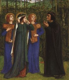 The Meeting of Dante and Beatrice in Paradise - Dante Gabriel Rossetti