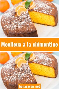 Soft clementine - In winter, we love to eat clementines, this delicious, colorful and sweet fruit, but we don& - Easy Cheesecake Recipes, Homemade Cake Recipes, Chocolate Fruit Cake, Tolle Desserts, Cake Recipes From Scratch, Christmas Breakfast, Great Desserts, Food Cakes, Savoury Cake