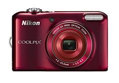 """Nikon COOLPIX L28 MP Digital Camera with 5x Zoom Lens and 3"""" LCD (Red) (OLD MODEL) 20.1 >>> undefined #DigitalCameras"""
