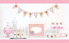 2 SETS of 95 - Tea Party Decorations Starter Kit Birthday Favors (EB)