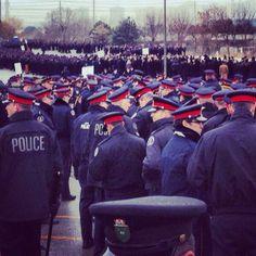 Memorial for Toronto officer funeral 2013