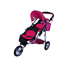 The New York Doll Collection Twin Doll Babyboo Stroller, Pink ...