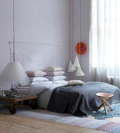 #grey bedding- love this angel!