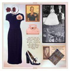 """""""The First Lady Of Argentina. María Eva Duarte de Perón"""" by m-kints ❤ liked on Polyvore featuring Chanel, Amrapali and Effy Jewelry"""
