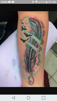 One day i'll fly away tattoo. Dope Tattoos, Girly Tattoos, Mama Tattoos, Native Tattoos, Family Tattoos, Pretty Tattoos, Leg Tattoos, Beautiful Tattoos, Body Art Tattoos