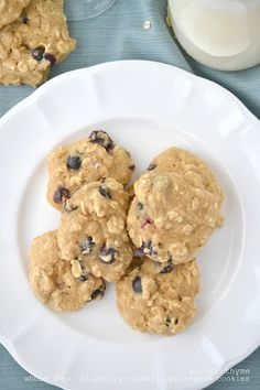Whole Wheat Blueberry Oatmeal Applesauce Cookies from @Jennifer | Mother Thyme