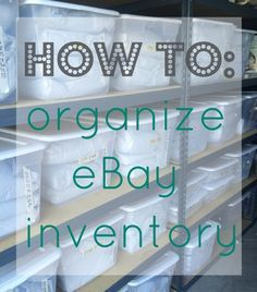 eBay inventory was taking over our lives! We'd spend forever looking for things that sold, we'd lose things, our house was a mess....it was awful. We decided to get serious and make eBay a profitible business. This meant we needed to figure out how to store eBay inventory! Read about how we reclaimed our free time and multiplied our profits by learning how to organize our eBay inventory! http://www.resellingrevealed.com/ebay-sales-blog/how-we-organize-ebay-inventory
