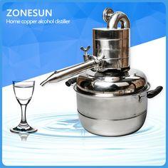 ZONESUN home copper alcohol distiller for sale #Affiliate