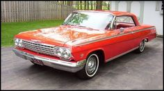 """Q: Which car song was the flip side of the Beach Boy's early single, """"Surfin' Safari""""? 60409 A: rhapsodizing the dual quad, posi-traction Shown: 1962 Chevrolet Impala SS with 409 bhp under two Rochester 4 bbl carbs. 1962 Chevy Impala, Chevrolet Chevelle, 64 Impala, Chevy Classic, Classic Cars, Muscle Cars, Hot Rods, Mid Size Sedan, Car Facts"""