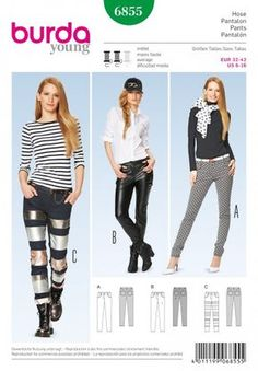 Burda 6855, Broek in 3 variaties