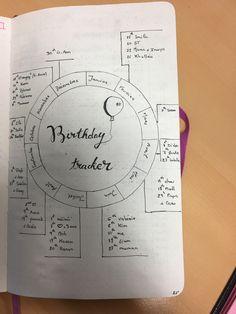 Essai du Birthday Tracker ! Bullet journal minimaliste
