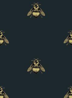 'Napoleon Bee' wallpaper design by Timorous Beasties