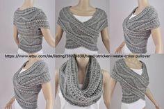 Knitting and crochet Crochet Scarves, Crochet Clothes, Diy Clothes, Knit Crochet, Crochet Pullover Pattern, Poncho Knitting Patterns, Crochet Patterns, Diy Mode, Loop Scarf