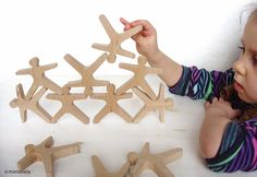 Balancing game  Wooden balancing toy  Balance and by mielasiela, $55.00