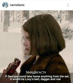 I would take a dress. No, two dresses and the healing cordial and dager Lucy Pevensie, Edmund Pevensie, Susan Pevensie, Narnia Cast, Narnia 3, Chronicles Of Narnia Books, Narnia Movies, Georgie Henley, Plus Tv
