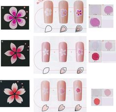 Thumb And Ring Finger Nail Design. Nail art is a wonderful approach to express yourself and your fashion. It's just like having small canvases on your own fingertips, and anywhere you go, you can present your craft. Acrylic Nail Art, Gel Nail Art, Nail Art Diy, Easy Nail Art, Tulip Nails, Orchid Nails, Basic Nails, Simple Nails, Uñas One Stroke