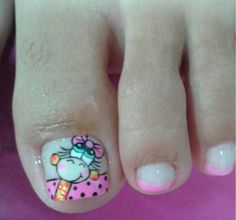Nail Polish Designs, Nail Designs, Nail Art For Kids, Mani Pedi, Nail Stickers, Nail Jewels, Enamels, Toe Nail Art, Fingernails Painted