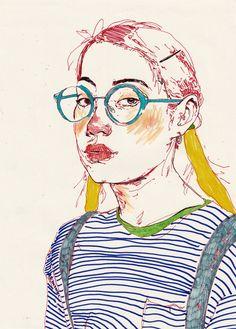 khadds: withapencilinhand: girls Yes this is art Grunge Art, Art Corner, Pencil Illustration, Art Sketchbook, Portrait Art, Moleskine, Traditional Art, Art Inspo, Cool Art