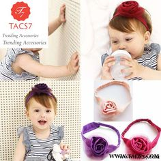 dc1e40f8a7880 Latest Lovely Girl Elastic Hairbands Big Rose Flower Headband