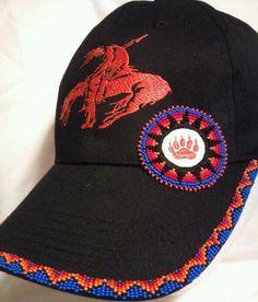 hat that I've beaded: