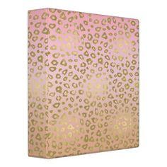 Shop Pink Ombre Gold Leopard Print Binder created by peacefuldreams. Pink Cheetah, Cheetah Print, Binder Design, Custom Binders, Brand Packaging, Photo Quality, Unique Weddings, Art For Kids, Girly