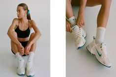 Bandier Enlists Emily Oberg For Beach-Side Campaign Highlighting Melrose Store Fitness Photography, Fashion Photography, Nike Campaign, Emily Oberg, Fitness Photoshoot, Bandy, Workout Aesthetic, Cycling Shorts, Fashion Editorials