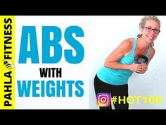 WEIGHTED ABS 10 Minute No Repeat AB Workout with a KETTLEBELL or DUMBBELL *** It's the #HOT100 – quick, sweaty and FUN workouts to get you …