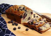 OLD HOUSE KITCHEN: Sour Cream Blueberry Bread