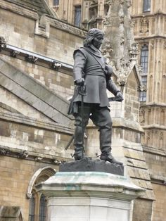 Statue of Oliver Cromwell outside the Palace of Westminster. He remains one of the most controversial figures in English history.