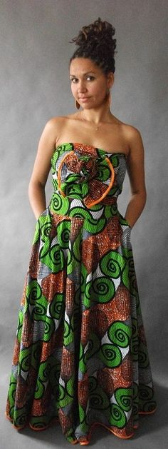 African inspired Maxi. Love the print